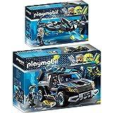 Playmobil Top Agents Set en 2 parties 9253 9254 Mega Drone con Sergente K + Pickup del Dr. Drone