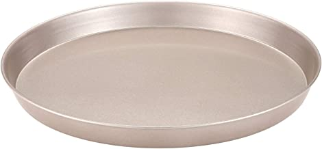 CHEFMADE 10-Inch Pizza Pan, Non-stick Carbon Steel Pancake Mold, FDA Approved for Oven Baking (Champagne Gold)