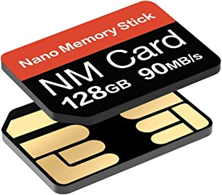 YAOMAISI Tarjeta NM 64G 128G 256G 90MB/S Tarjeta de Memoria Nano Tarjeta SD Nano Tarjeta Compact Flash, Solo Adecuada para Huawei P30P30pro y Mate20 Series,Nano 128GB