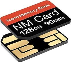 Tarjeta NM 128GB 90MB/S Tarjeta de memoria Nano Tarjeta Nano Solo tarjeta NM Adecuado para Huawei P30/P30pro y Mate20 Series Tarjeta Nano 128GB