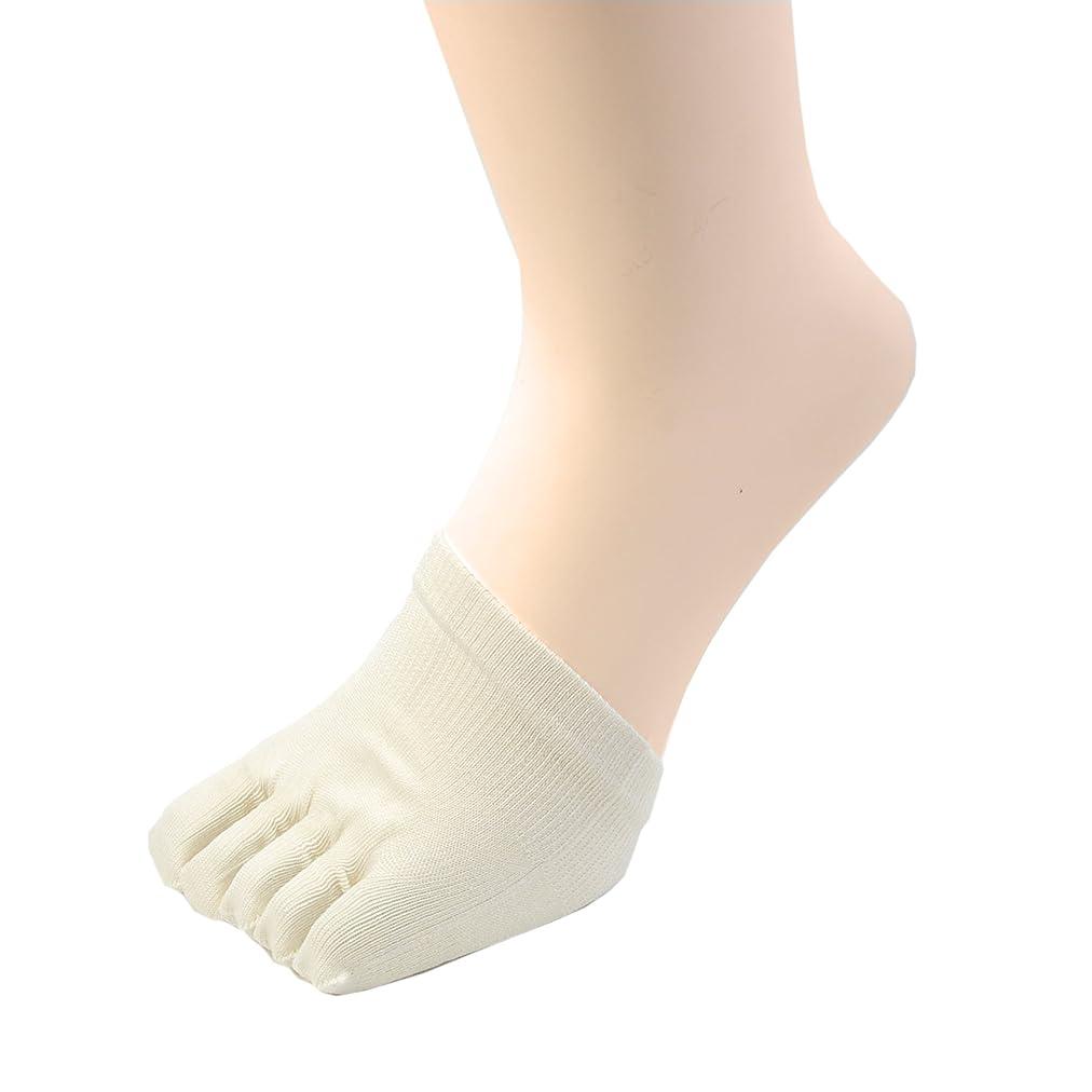 コンパクト処理する大学院冷えとり 絹 ( シルク )100% ハーフ 5本指 下履き (クツしたイン) ソックス 着圧健康ソックスの必需品! 2足組 #685