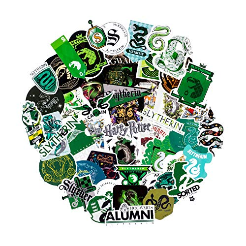 Conquest Journals Harry Potter Slytherin Vinyl Stickers, Set of 50, Waterproof and UV Resistant, Great for All Your Gadgets, Potterfy All The Things