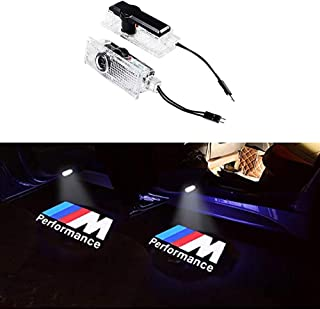 KRADA Car Door LED Logo Light Projector Ghost Shadow welcome Lights for BMW M 3 5 6 7 Z GT Mini Series Symbol Emblem Courtesy Step Lights Kit Replacement(2-pack)