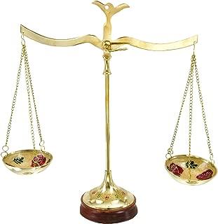 Deco 79 30651 黄铜秤,30.48 厘米宽 x 30.48 厘米高