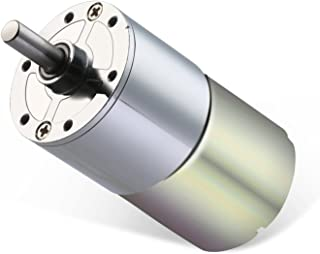 Greartisan DC 24V 1000RPM Gear Motor High Torque Electric Micro Speed Reduction Geared Motor Centric Output Shaft 37mm Diameter Gearbox