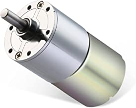 Greartisan DC 12V 10RPM Gear Motor High Torque Electric Micro Speed Reduction Geared Motor Centric Output Shaft 37mm Diameter Gearbox
