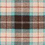 Fabulous Fabrics Mantelstoff Woll Mix Schottenkaro –