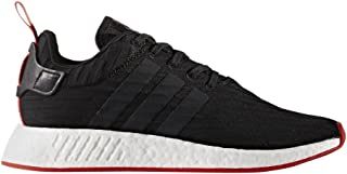 Men's NMD R2 Primeknit Black/Red Ankle-High Fabric Athletic Water Shoe - 8M
