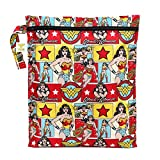 Bumkins DC Comics Waterproof Wet Bag 12x14, Washable, Reusable for Travel, Beach, Pool