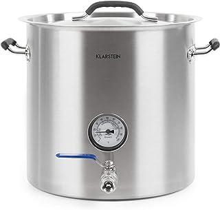KLARSTEIN Brauheld Pur - cuve de Brassage, système de Brassage de bière, thermomètre, paroi de 0,7 mm, Base Sandwich de 3 ...