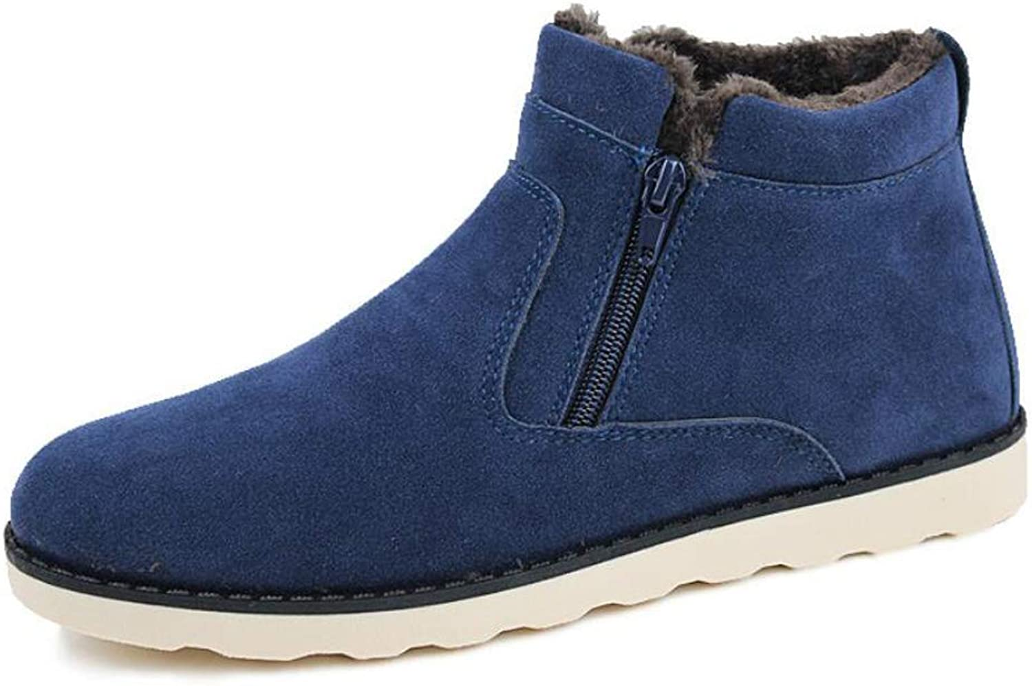 Zxcvb Outdoor High Help Plus Velvet Cotton shoes Snow Boots Men's Warm Casual Men's shoes Yellow bluee Black