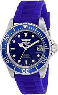 Invicta Men's Pro Diver Stainless Steel Automatic-self-Wind Diving Watch with Silicone Strap, Blue, 20 (Model: 23679)