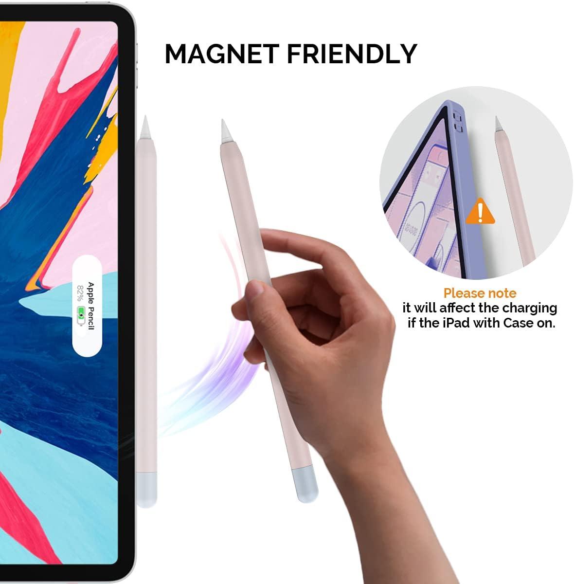 Confezione da 2 AHASTYLE Custodia in Silicone Cover Ultra Sottile Compatibile con Apple Pencil 2nd Generazione iPad PRO 11 12,9 Pollici Blu Notte /& Azzurro