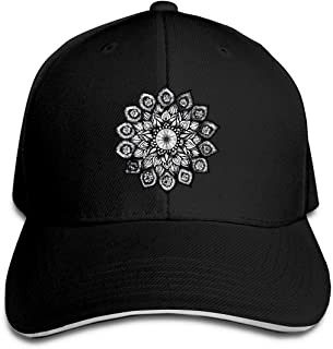 Adult Small Flower Sticker Cotton Lightweight Adjustable Peaked Baseball Cap Sandwich Hat Men Women