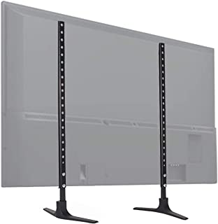 VOLKWELL Universal Table Top TV Stand Base VESA Pedestal Mount for 32 inch to 55 inch TVs Holds up to 99lbs