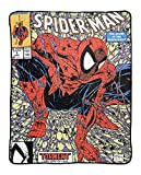 Marvel Spider-Man 90's Cover Torment Officially Licensed Digital Graphic Print Fleece Throw Blanket, 45'x60'