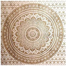 Top Selling Original Gold Mandala Ombre Tapestry Wall Hanging, Boho Bohemian Hippie Tapestries/Indian Cotton Dorm Decor Me...