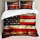 Ambesonne American Flag Duvet ...