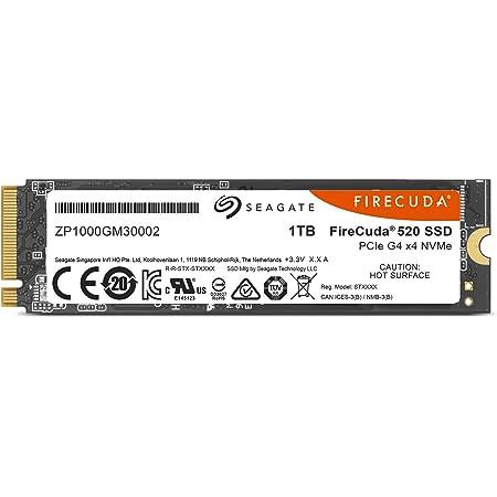Seagate FireCuda 520 M.2 【データ復旧3年付】 1TB PCIe Gen4x4 内蔵SSD M.2 2280 3D TLC 正規代理店品 5年保証 ZP1000GM3A002