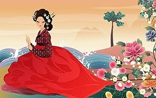 makeuseof 24X36 INCH / ART SILK POSTER / artistic art artwork women female girls girl woman asian korean korea oriental by river