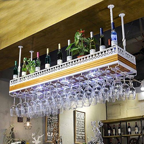 BTJJ European KTV Bar Hanging Glass Holder Solid Wood Increase Creative Copa...