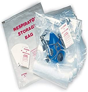 Allegro Industries 4001‐05 Disposable Respirator Storage Bags, Large (Pack of 100)