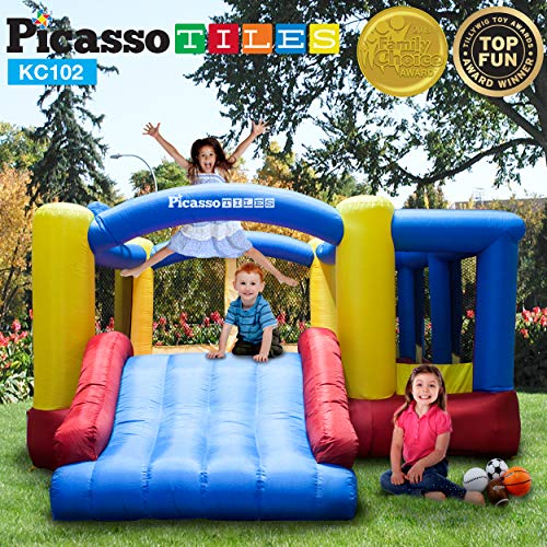 PicassoTiles KC102 12x10 Foot Inflatable Bouncer