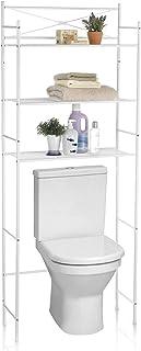 IDIMEX Etagère de Salle de Bain MARSA Meuble de Rangement au-Dessus des Toilettes WC ou Lave-Linge avec 3 tablettes, en mé...