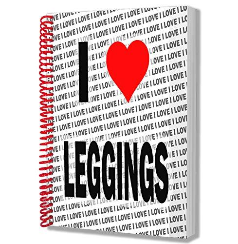 Ik hou van Leggings - A5 Notebook - Kladblok - Verjaardag - Kerstmis - Gift