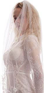 Best ivory veil with rhinestones Reviews