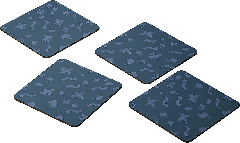 Bonamaison Coasters - Set of 4 Very popular! Super beauty product restock quality top E 9x9CM -Premium Absorbent MDF