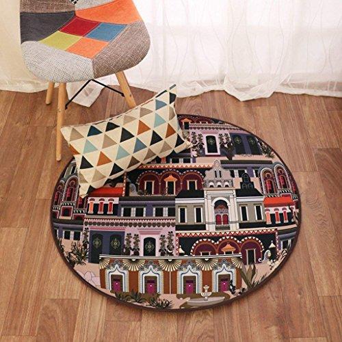 DSJ eenvoudige woonkamer mand met tapijt mat ronde slaapkamer ronde tapijt tafel met koffiebed, 120 * 120CM,DD