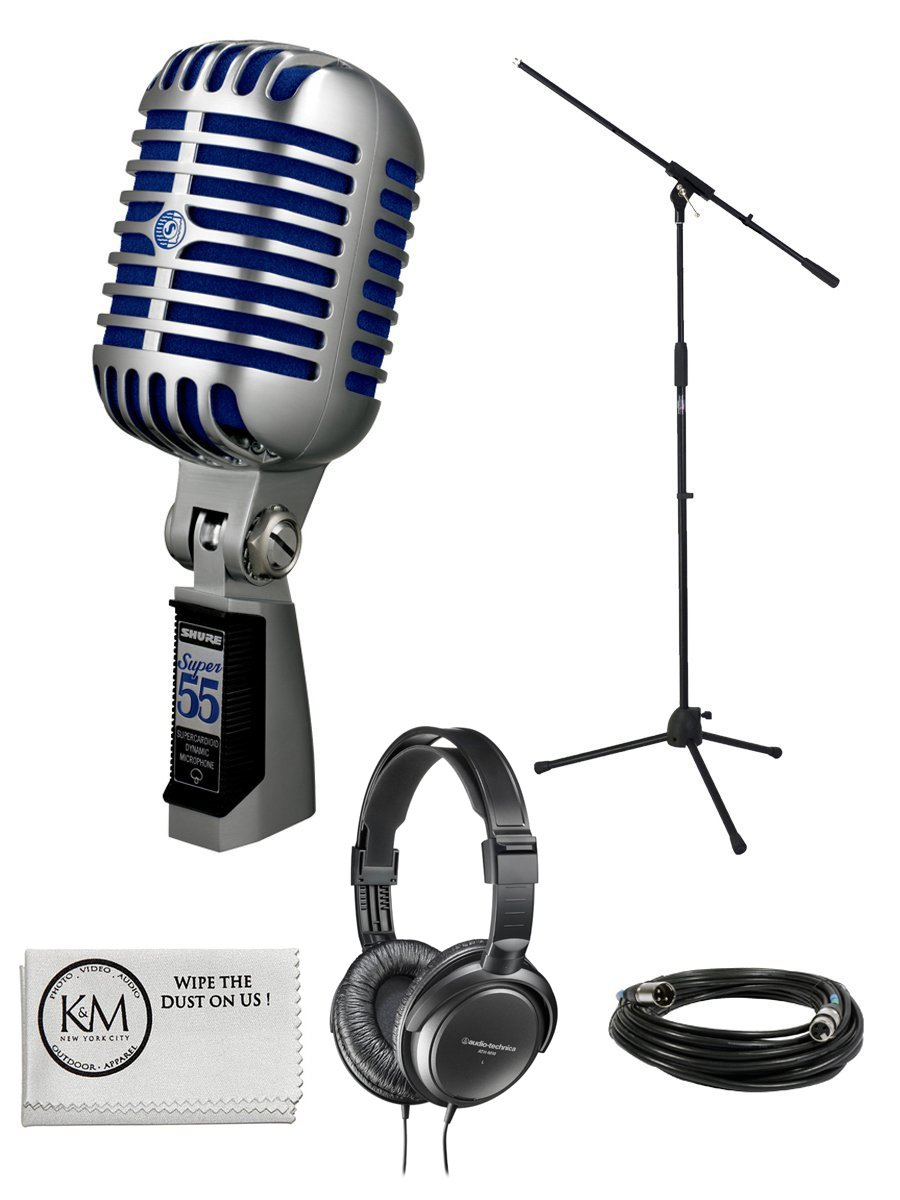 Microfono Shure Super 55 Deluxe Vocal Bundle with Boom Stand