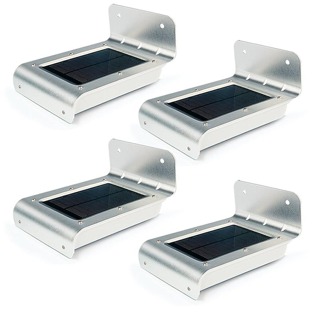 罪収容するスローUniquefire 四点セット 改良版 ソーラーライト16個LED電球充電式LEDライトセンサー搭載 アウトドアライト