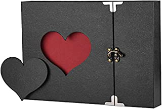 A4 Photo Album DIY Vintage Scrapbook Love Heart Black Pages Wedding Scrapbook Album Photo Kits