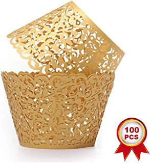 gold glitter cupcake liners