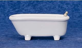 Melody Jane Dollhouse Plain White Porcelain Bath Tub Miniature Bathroom Furniture