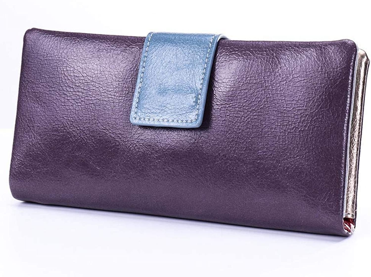 Girls Purse Women's Wallet Lady Purse Multifunctional Mobile Phone Bag Lady MultiCard Small Change Wrap Lady Hand Bag (color   E)