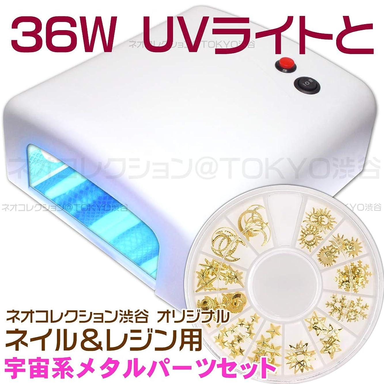 代表する必須滑るネオコレクション 白いUVライトとメタルパーツのセット 36Wジェルネイル用 36WUVライト単品単体本体 UVレジン用 レジンクラフト用ピンク UVランプ