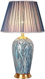 Lampe de Table en cuivre Chambre Lampe de Chevet américain Salon décoration Lampe de Table rétro Villa hôtel Chambre Lampe...