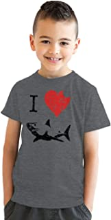 Kids' I Love Sharks T Shirt Classic Youth Shark Bite Shirt Shark Tee