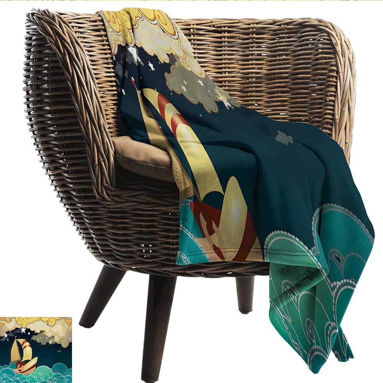 Anshesix Travel Throwing Blanket Ship Kids Fairy Tale