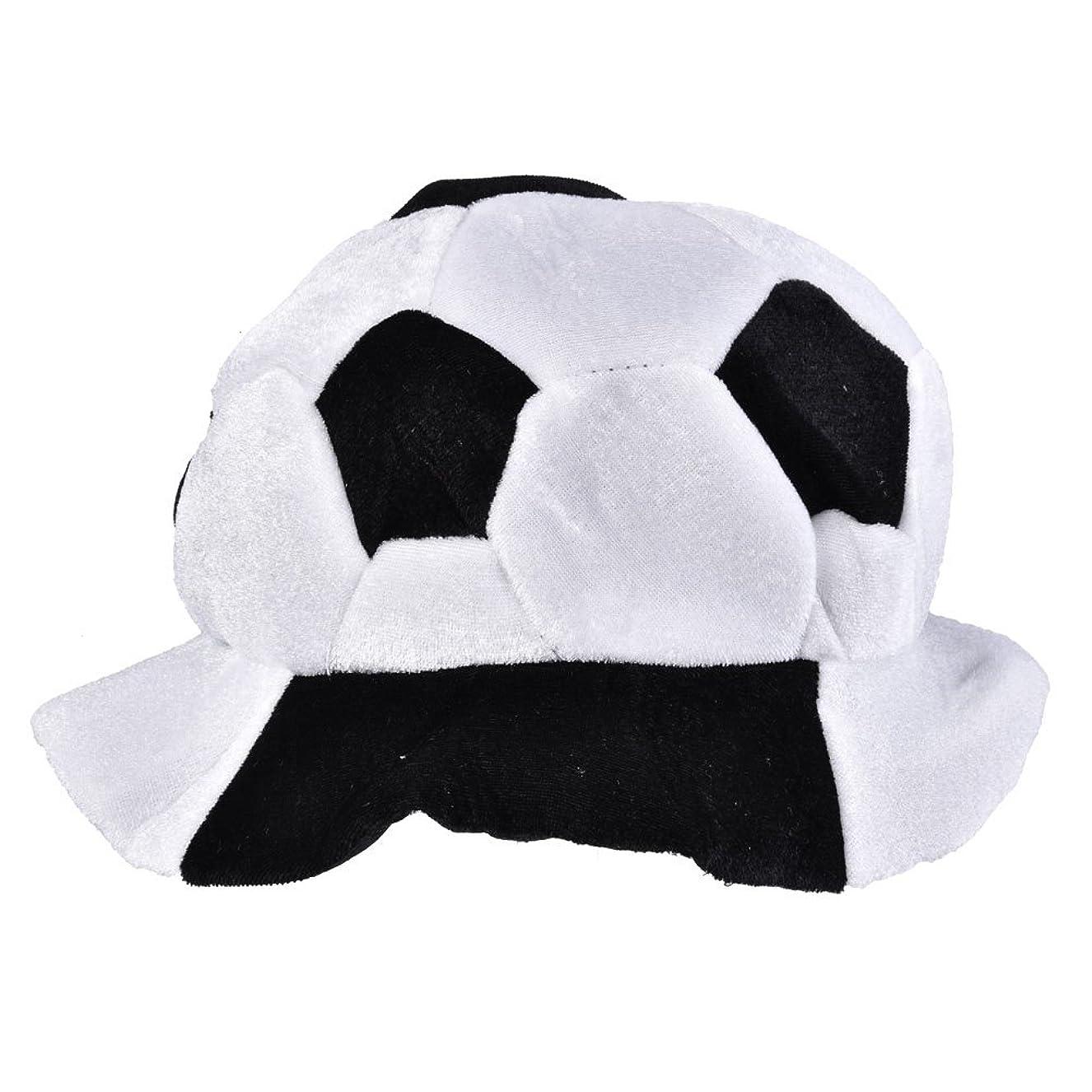 ジーンズ落胆させる主導権2018ワールドカップファンパーティー フットボールシェイプハットサッカーマッチ応援ツールアクセサリー,調整可能なサッカー サポーター ボール型ハット 応援道具