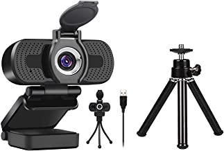 Larmtek 1080p Full Hd Webcam with Webcam Cover and Mini Webcam Tripod Mount