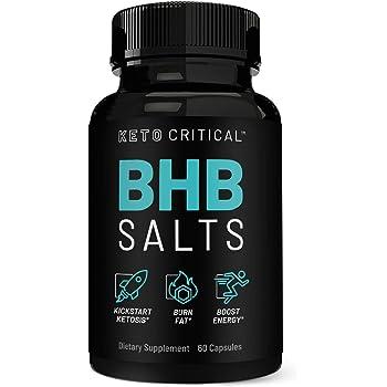 Keto Pills Exogenous Ketones Salts Beta-Hydroxybutyrate (800mg | 60 Capsules) Ketone Supplement