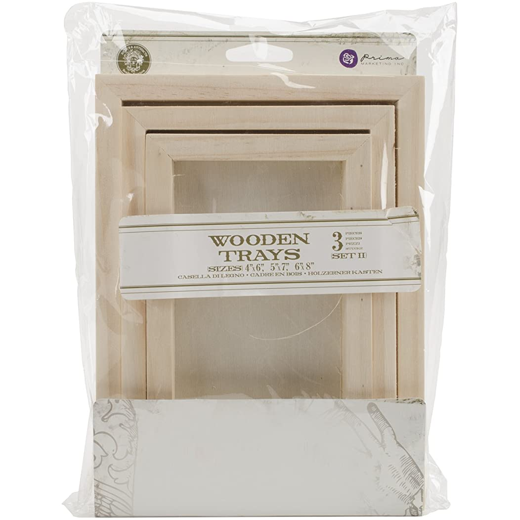 Prima Marketing 655350941772 Wooden Tray (Set of 2)