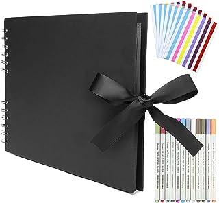Album Photo à Coller Album Photos Scrapbooking,Album Photo Pages Noires 80 Pages Album Photo Vierge,Livre Photo Scrapbook ...