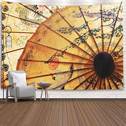 N\A Halloween Tapisserie, Schneemann TapisserieWinter Hängende Wand Tapisserie für D & Eacute; COR Wohnzimmer von Sonnenschirm mit Thai Ornament
