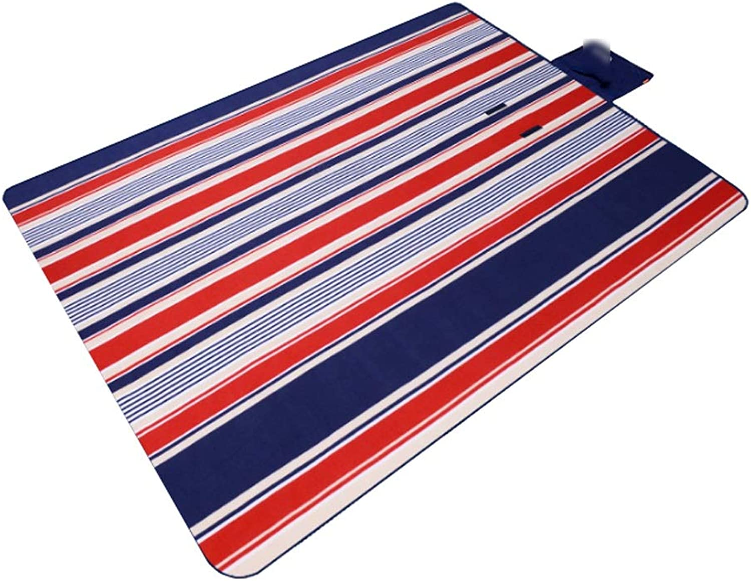 Picnic Mat Picnic Blanket Striped Handy Beach Mat with Strap Mildew Resistant and Waterproof for Picnic Beaches (color   C, Size   1.5x2M)