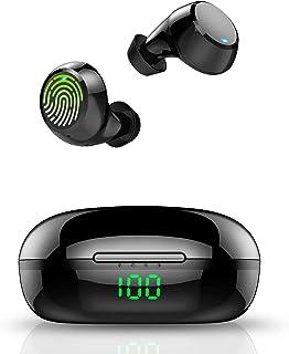 Auriculares Inalámbricos, Auriculares Bluetooth 5.0 con Micrófono, 36 Horas de reproducción con Caja de Carga, IPX7 Imperm...